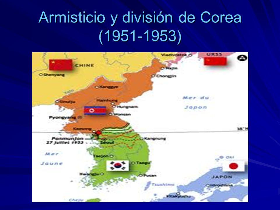 Armisticio y división de Corea (1951-1953)