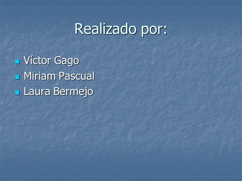 Realizado por: Víctor Gago Víctor Gago Miriam Pascual Miriam Pascual Laura Bermejo Laura Bermejo