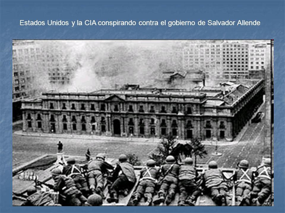 Estados Unidos y la CIA conspirando contra el gobierno de Salvador Allende