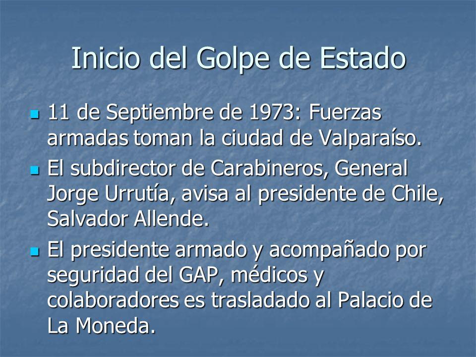 Inicio del Golpe de Estado 11 de Septiembre de 1973: Fuerzas armadas toman la ciudad de Valparaíso.