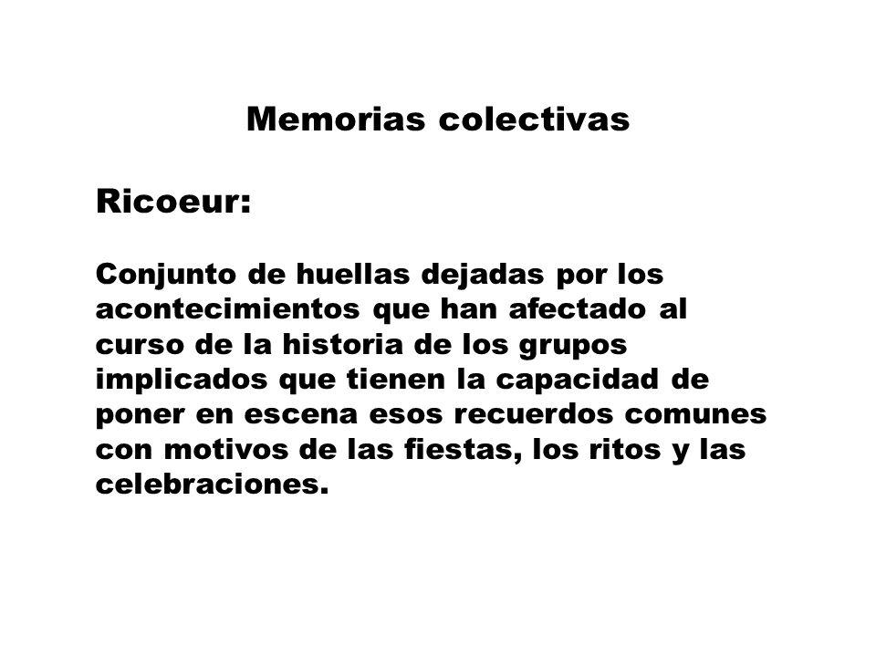 ¿Memoria o memorias Siempre habrá memorias e interpretaciones alternativas Lucha política activa