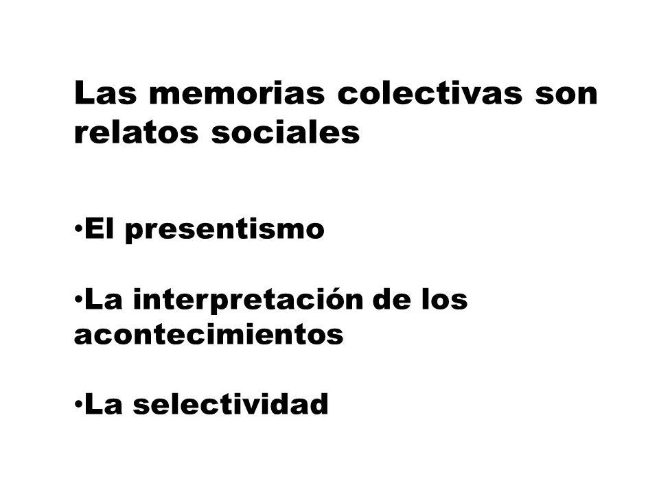 Memorias colectivas Ricoeur: Conjunto de huellas dejadas por los acontecimientos que han afectado al curso de la historia de los grupos implicados que tienen la capacidad de poner en escena esos recuerdos comunes con motivos de las fiestas, los ritos y las celebraciones.