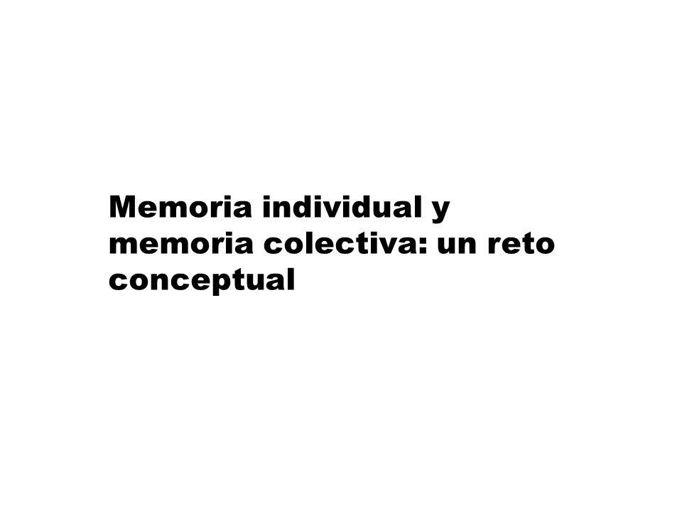 Memoria individual y memoria colectiva: un reto conceptual