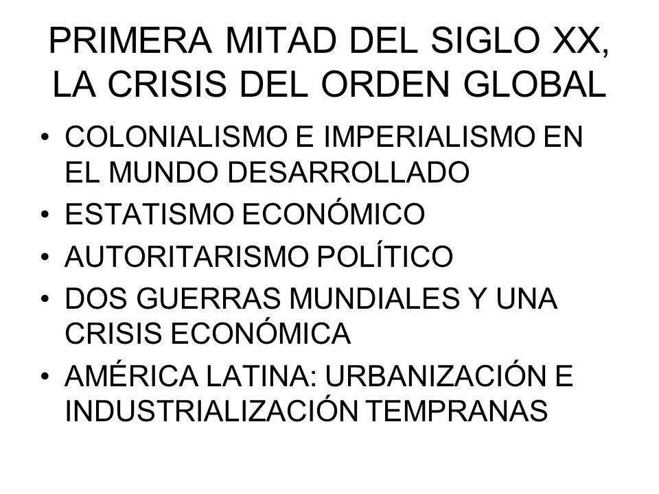 SEGUNDA MITAD DEL SIGLO XX, NUEVO ORDEN INTERNACIONAL NUEVO ORDEN DE POSGUERRA.