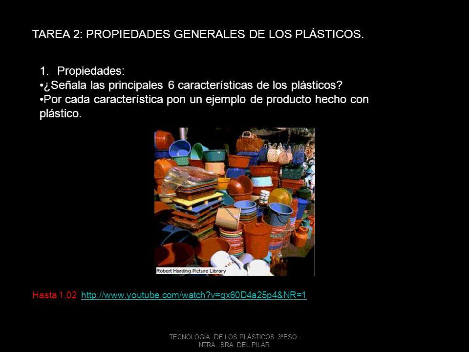 TECNOLOGÍA DE LOS PLÁSTICOS 3ºESO.NTRA. SRA. DEL PILAR TAREA 3: PROCEDENCIA.