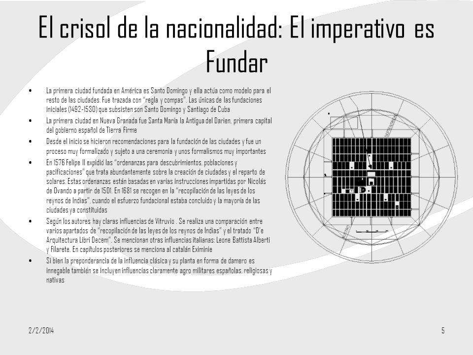 El crisol de la nacionalidad: El imperativo es Fundar La primera ciudad fundada en América es Santo Domingo y ella actúa como modelo para el resto de