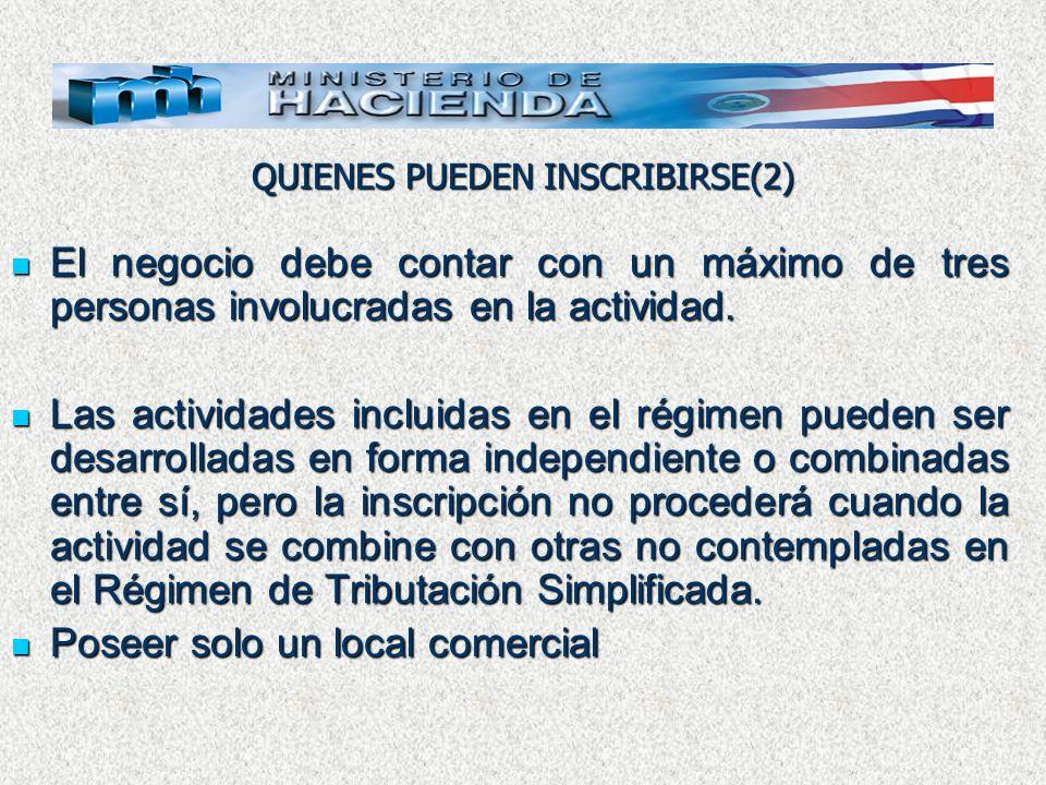 TRAMITES Presentar el formulario D-140 Declaración de inscripción, Modificación de Datos y Desinscripción y su anexo.