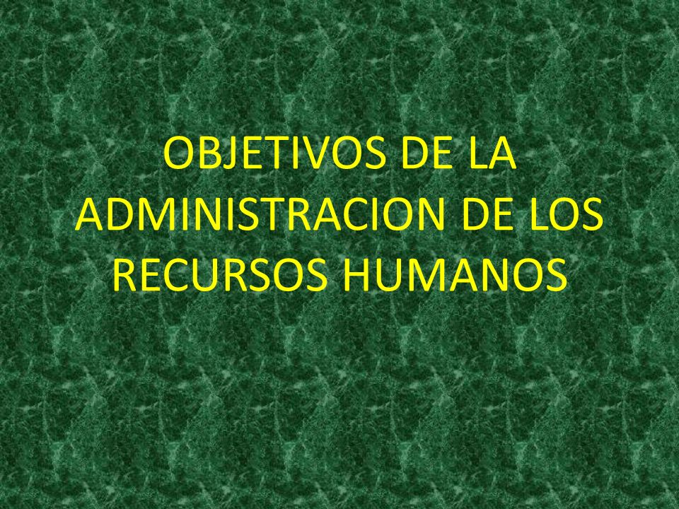 ADMINISTRACION DE LOS RECURSOS HUMANOS Planear, organizar, desarrollar, coordinar y controlar.