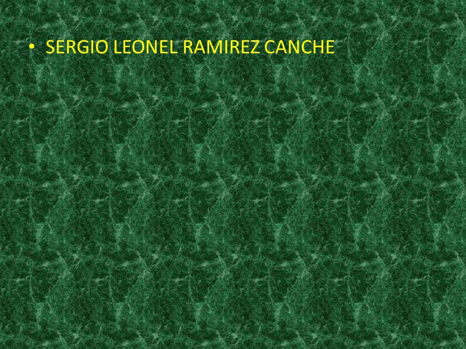 SERGIO LEONEL RAMIREZ CANCHE