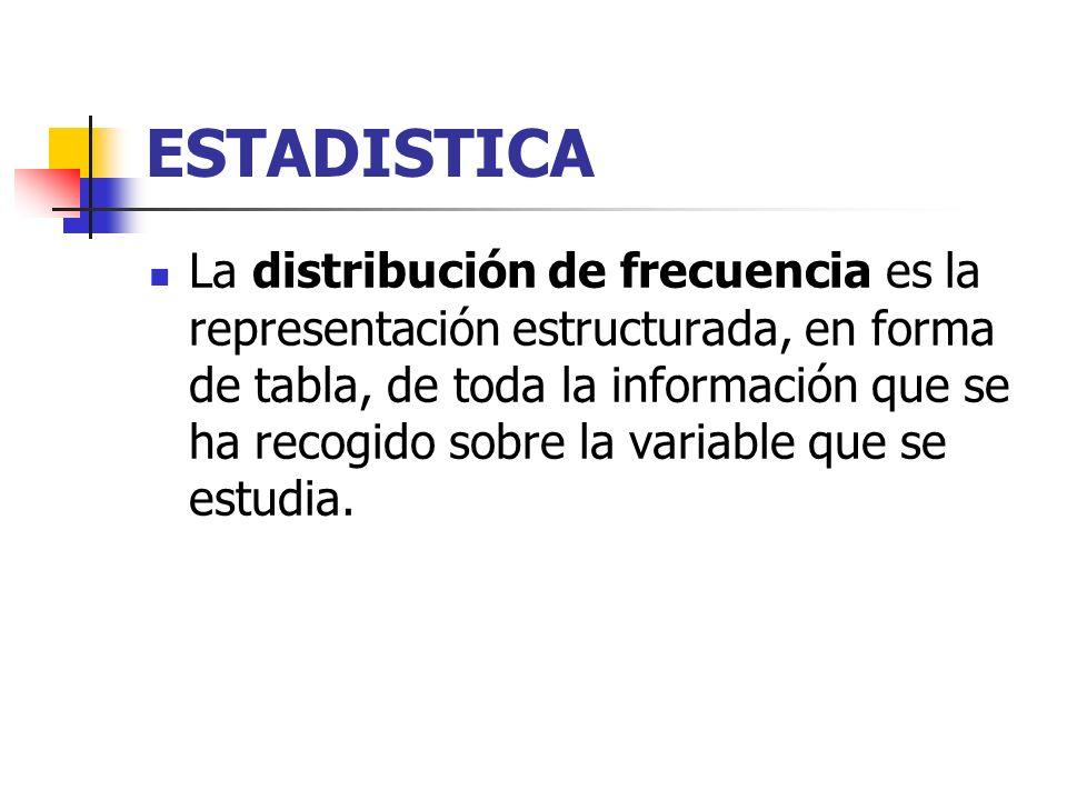ESTADISTICA Individuo: cualquier elemento que porte información sobre el fenómeno que se estudia. Así, si estudiamos la altura de los niños de una cla