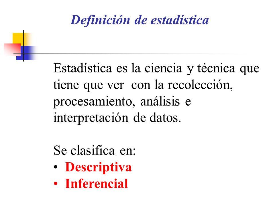 Estadística en Medicina El resultado de un análisis estadístico no es un objetivo en sí mismo, sino una herramienta para: comprobar o rechazar una hip
