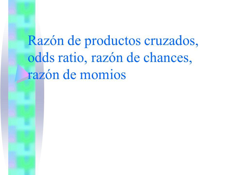 Razón de productos cruzados, odds ratio, razón de chances, razón de momios