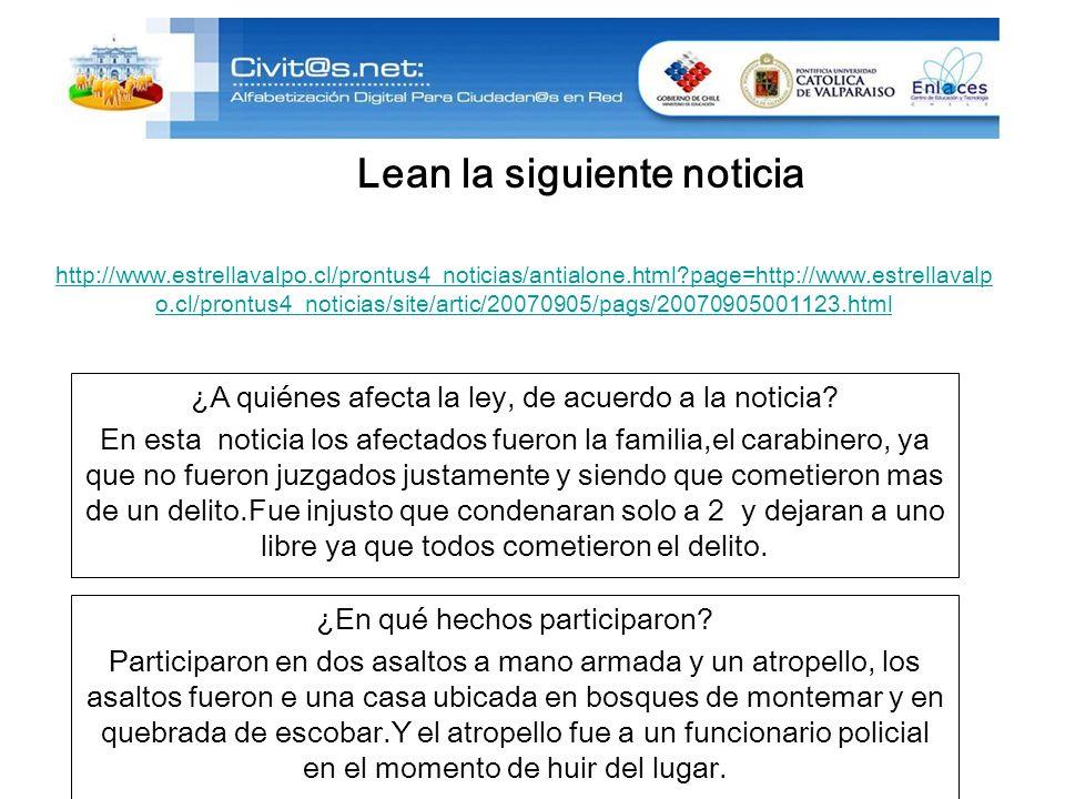 http://www.estrellavalpo.cl/prontus4_noticias/antialone.html page=http://www.estrellavalp o.cl/prontus4_noticias/site/artic/20070905/pags/20070905001123.html ¿A quiénes afecta la ley, de acuerdo a la noticia.