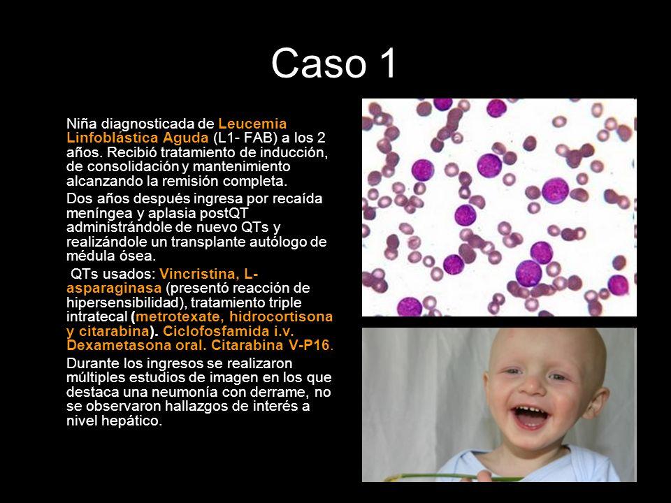 Niña diagnosticada de Leucemia Linfoblástica Aguda (L1- FAB) a los 2 años. Recibió tratamiento de inducción, de consolidación y mantenimiento alcanzan
