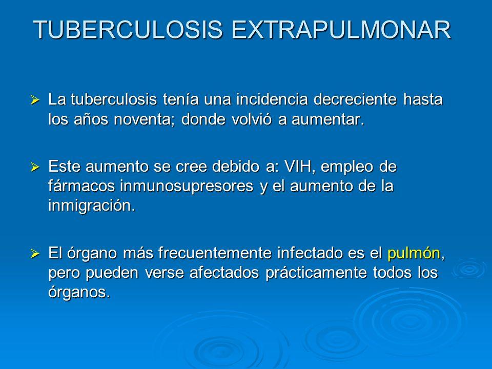 ESPONDILODISCITIS TUBERCULOSA Abscesos calcificados paravertebrales Destrucción cuerpo vertebral Destrucción de cuerpos verterales y disco intervertebral