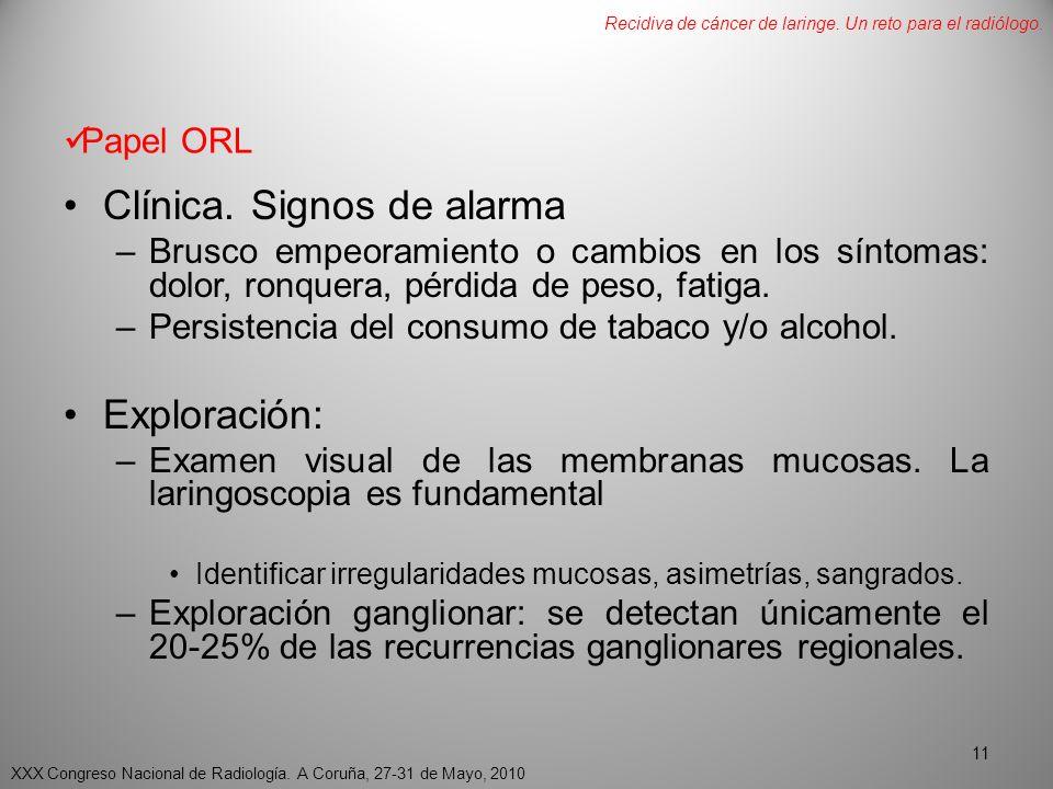 Papel ORL Clínica.