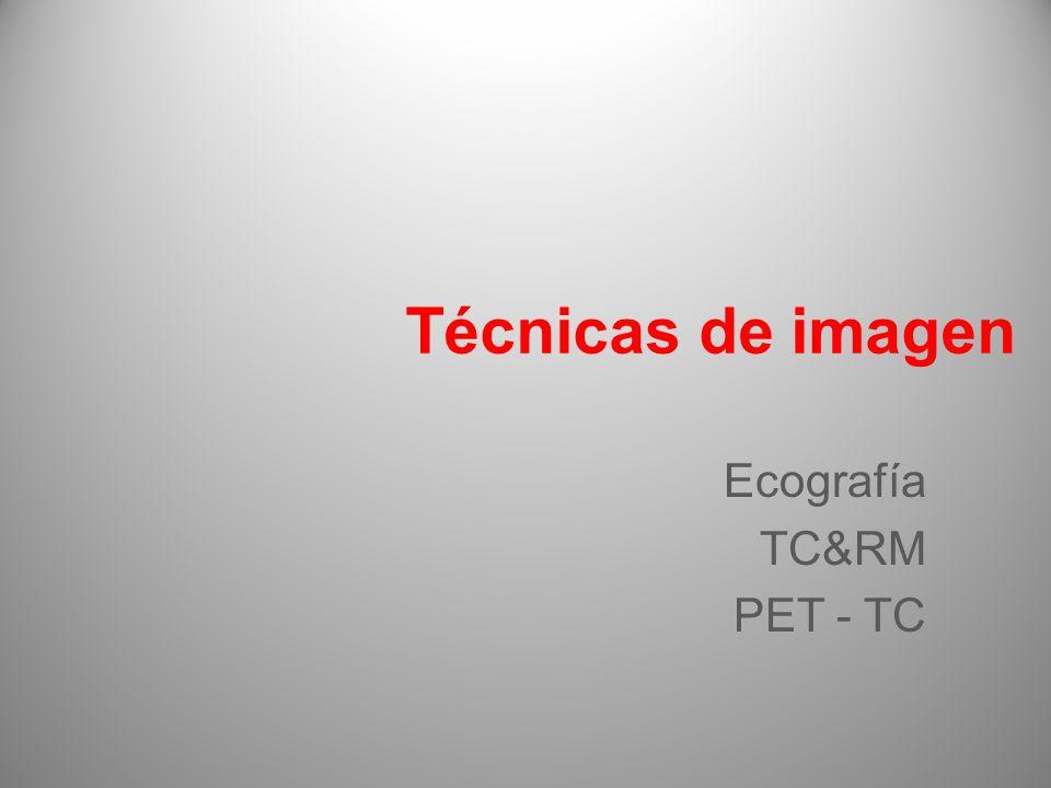 Técnicas de imagen Ecografía TC&RM PET - TC 13