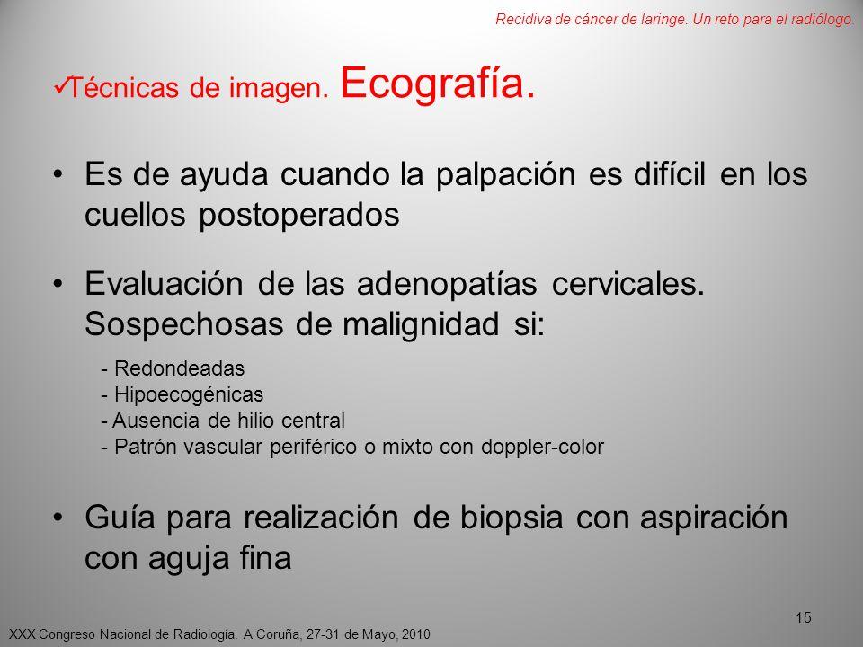 Técnicas de imagen.Ecografía.