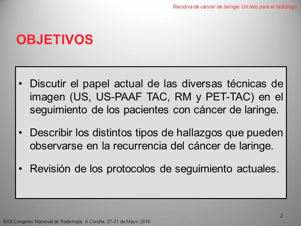 Segundos tumores primarios XXX Congreso Nacional de Radiología.