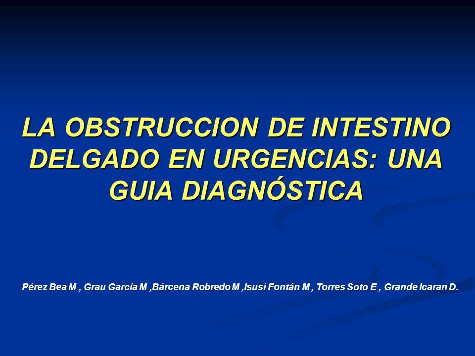 Obstrucción incompleta por invaginación ileoileal (metástasis submucosa)