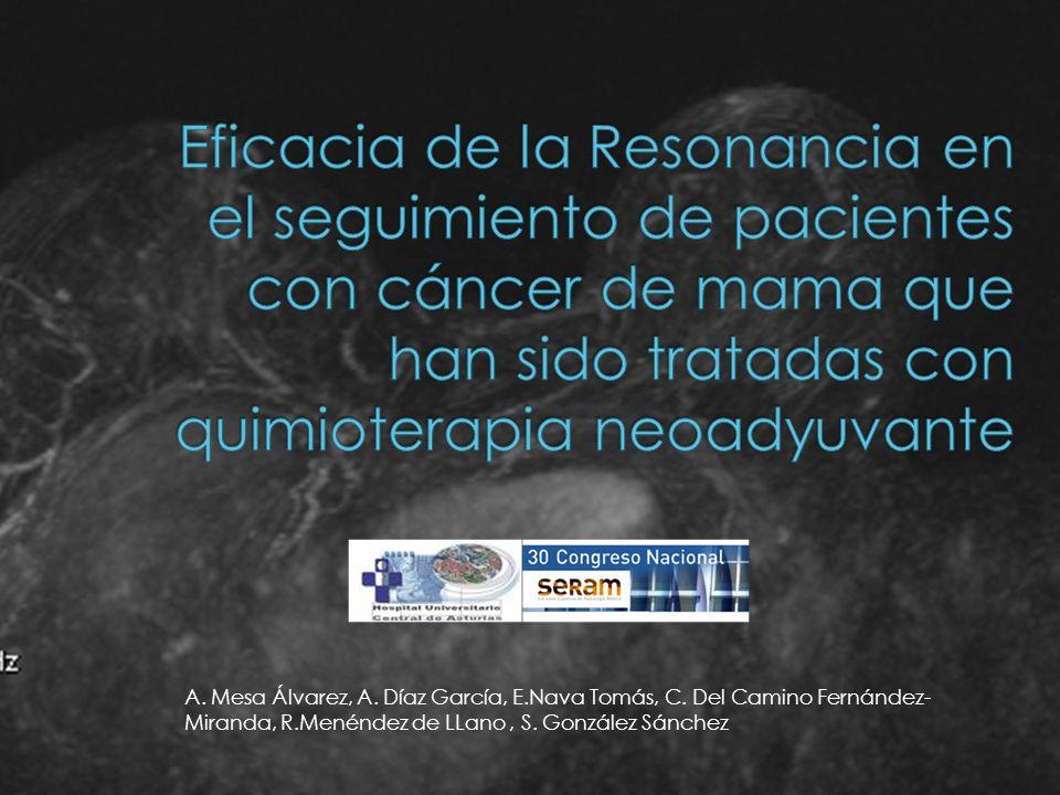 Los tumores de mama son carcinomas ductales infiltrantes (96%), y sólo un 4% lobulillares infiltrantes.