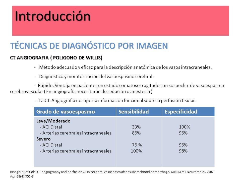 TÉCNICAS DE DIAGNÓSTICO POR IMAGEN CT ANGIOGRAFIA ( POLIGONO DE WILLIS) M - Método adecuado y eficaz para la descripción anatómica de los vasos intrac