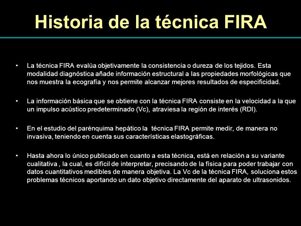 Historia de la técnica FIRA La técnica FIRA evalúa objetivamente la consistencia o dureza de los tejidos. Esta modalidad diagnóstica añade información