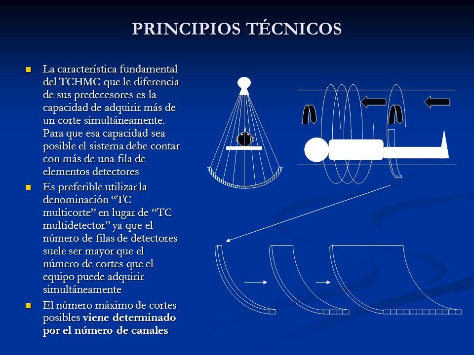 PRINCIPIOS TÉCNICOS La característica fundamental del TCHMC que le diferencia de sus predecesores es la capacidad de adquirir más de un corte simultán