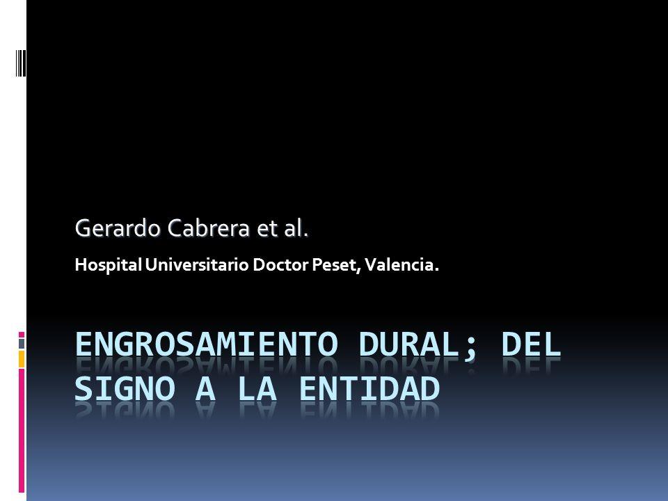 Gerardo Cabrera et al. Hospital Universitario Doctor Peset, Valencia.