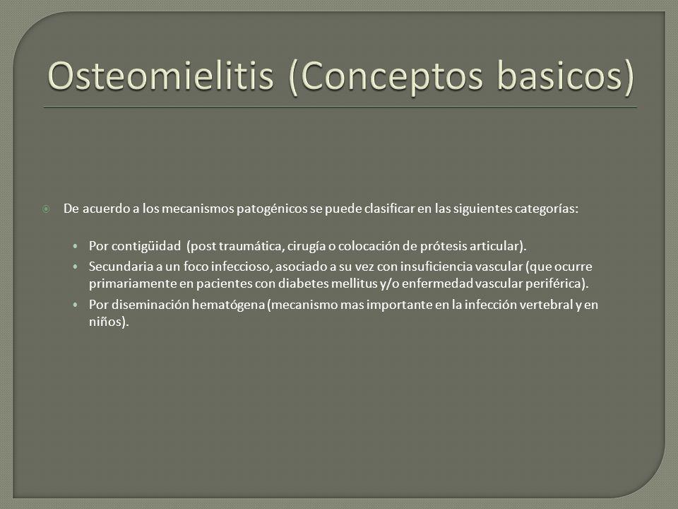 De acuerdo a los mecanismos patogénicos se puede clasificar en las siguientes categorías: Por contigüidad (post traumática, cirugía o colocación de pr