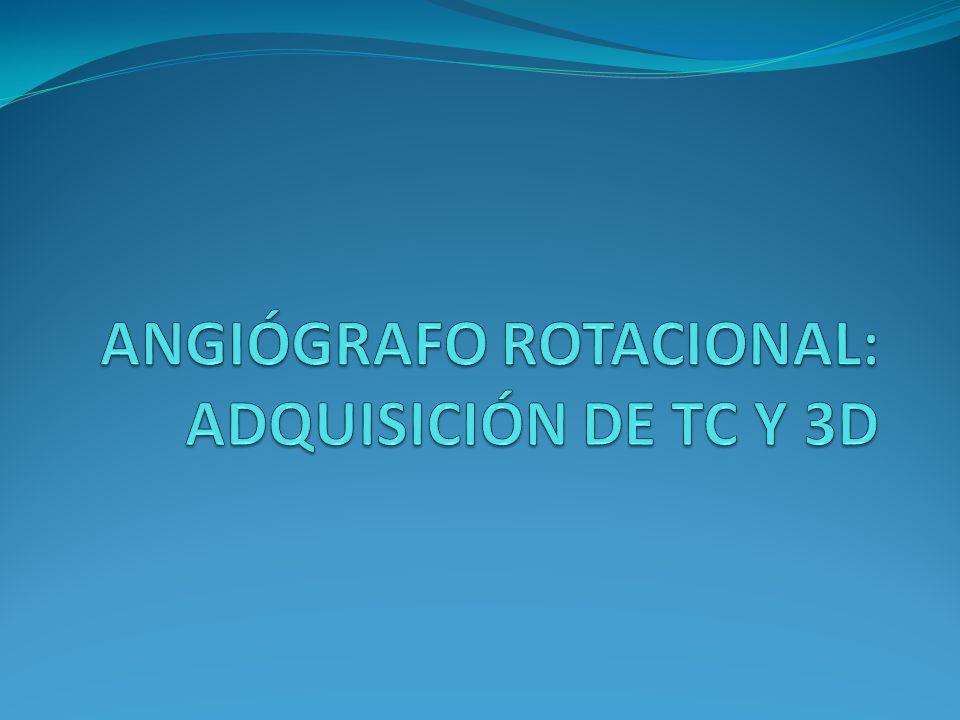 Introducción La capacidad de los angiógrafos más recientes de realizar adquisiciones rotacionales con posterior reconstrucción tridimensional y estudios de TC supone un importante avance en la radiología intervencionista.