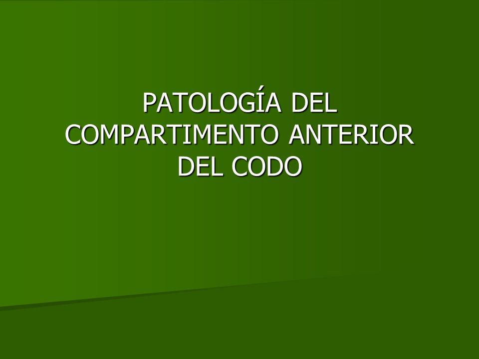 PATOLOGÍA DEL COMPARTIMENTO ANTERIOR DEL CODO