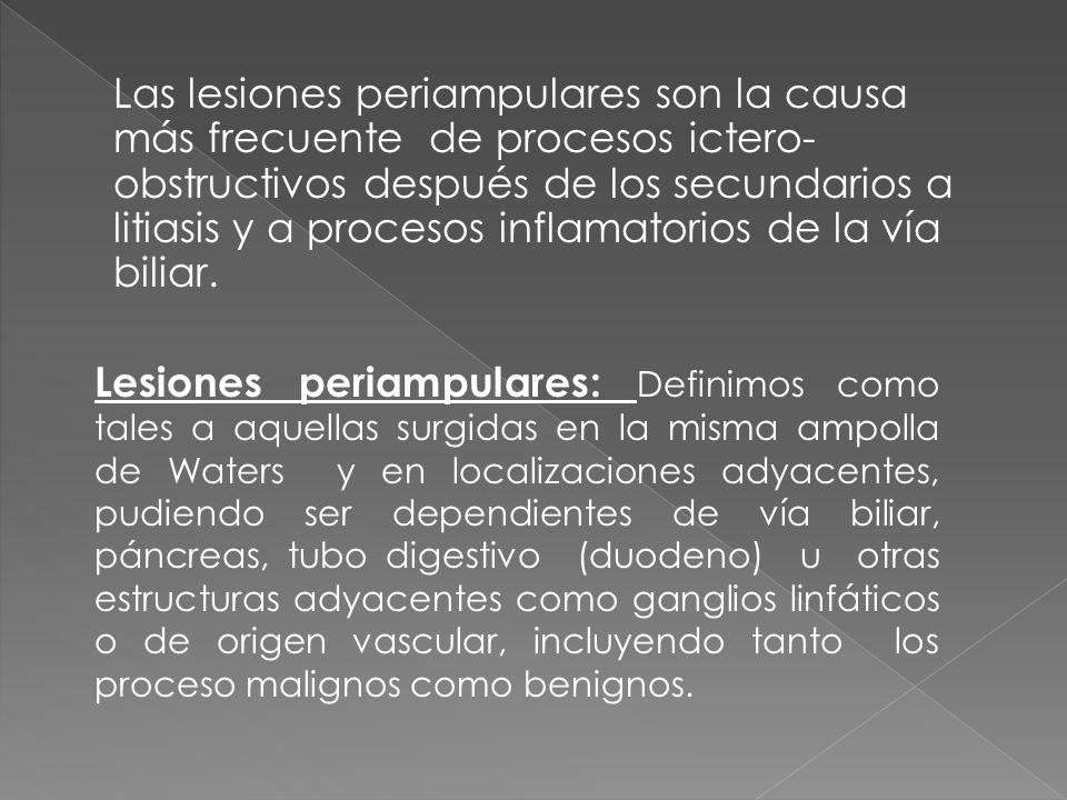 Adenocarcinoma de pancreas con dilatación de vias biliares