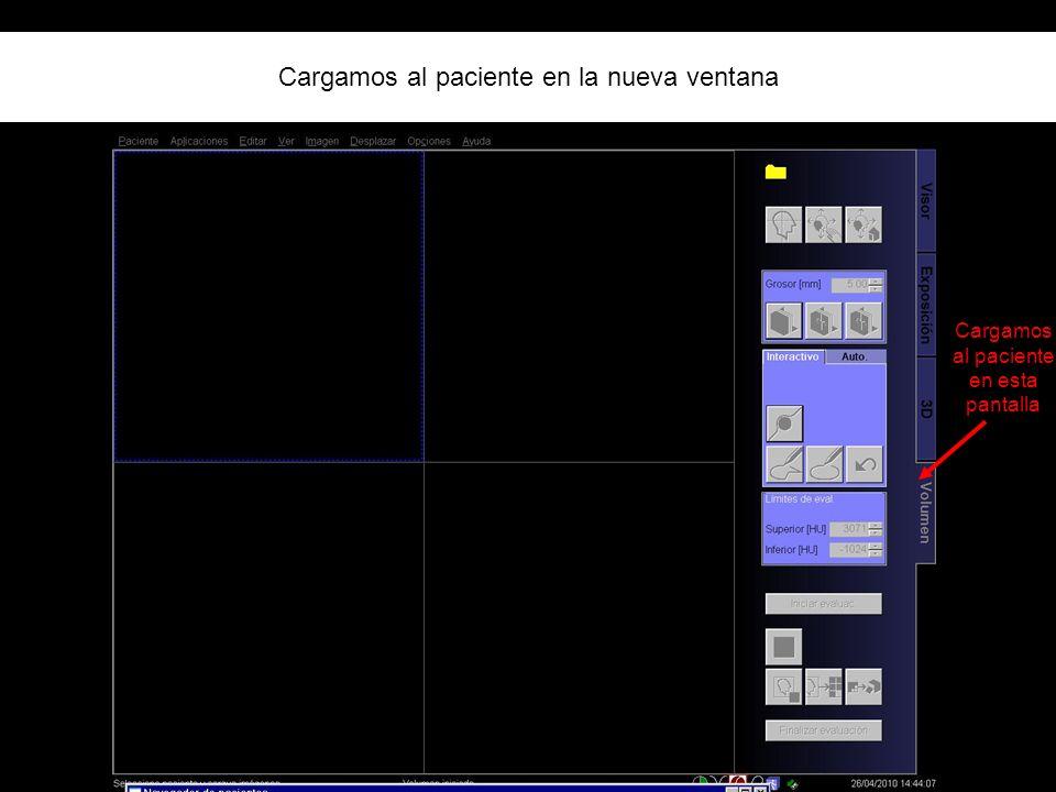 Cargamos al paciente en la nueva ventana Cargamos al paciente en esta pantalla