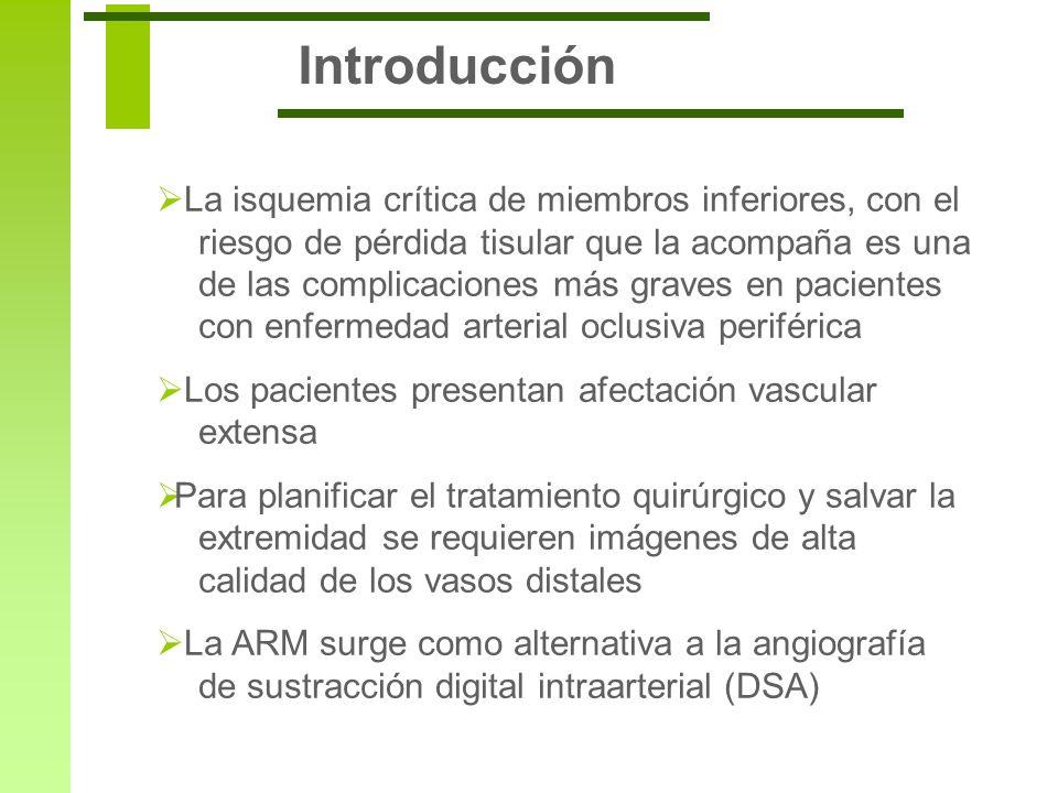 Introducción La isquemia crítica de miembros inferiores, con el riesgo de pérdida tisular que la acompaña es una de las complicaciones más graves en p