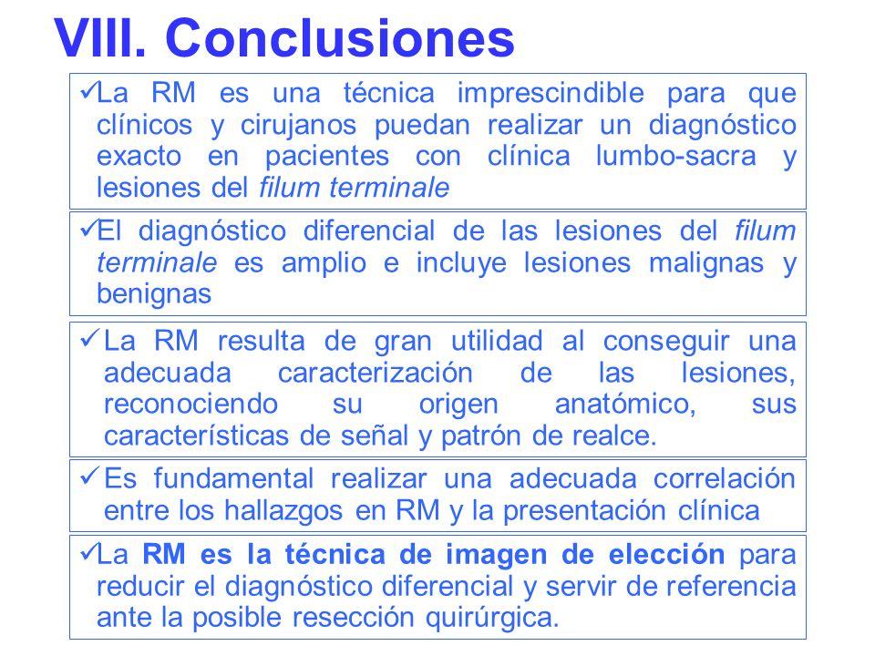 La RM es una técnica imprescindible para que clínicos y cirujanos puedan realizar un diagnóstico exacto en pacientes con clínica lumbo-sacra y lesione