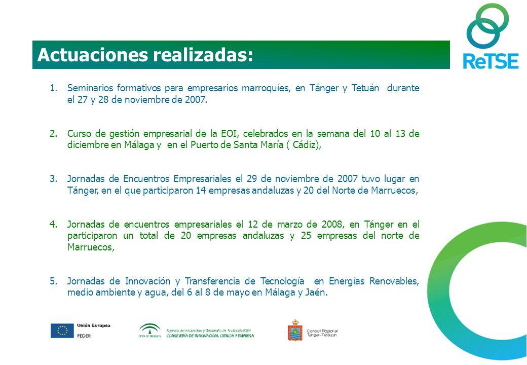 1.Seminarios formativos para empresarios marroquíes, en Tánger y Tetuán durante el 27 y 28 de noviembre de 2007.