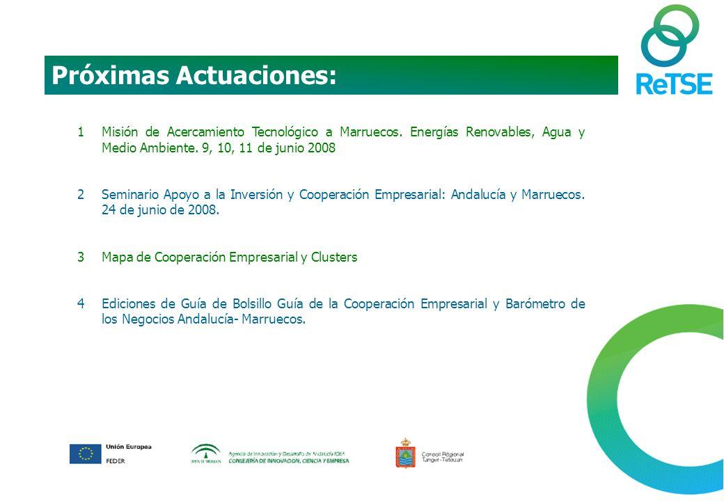 1Misión de Acercamiento Tecnológico a Marruecos. Energías Renovables, Agua y Medio Ambiente.