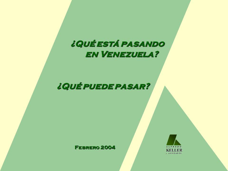 ¿Qué está pasando en Venezuela? ¿Qué puede pasar? Febrero 2004 A L F R E D O KELLER KELLER y A S O C I A D O S