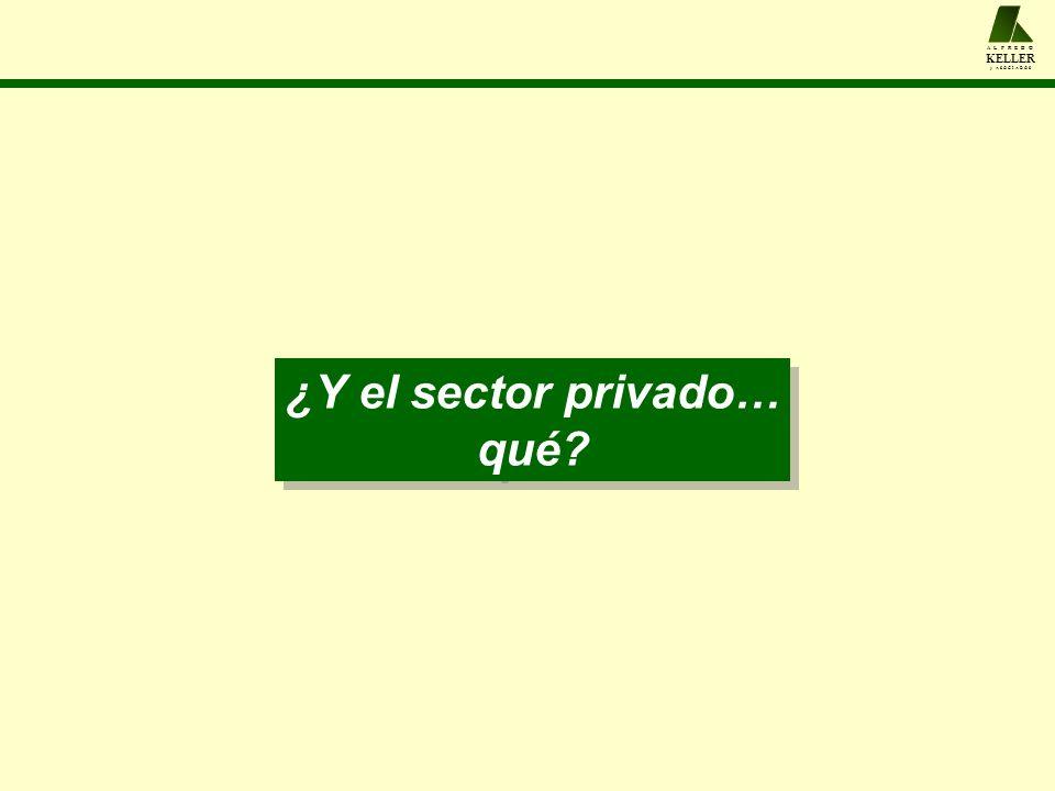 A L F R E D O KELLER y A S O C I A D O S ¿Y el sector privado… qué ¿Y el sector privado… qué