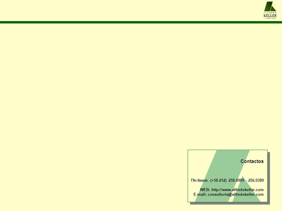 A L F R E D O KELLER y A S O C I A D O S Contactos Tfn-faxes: (+58-212) 258.0989 - 256.0389 WEB: http://www.alfredokeller.com E-mail: consultoria@alfredokeller.com