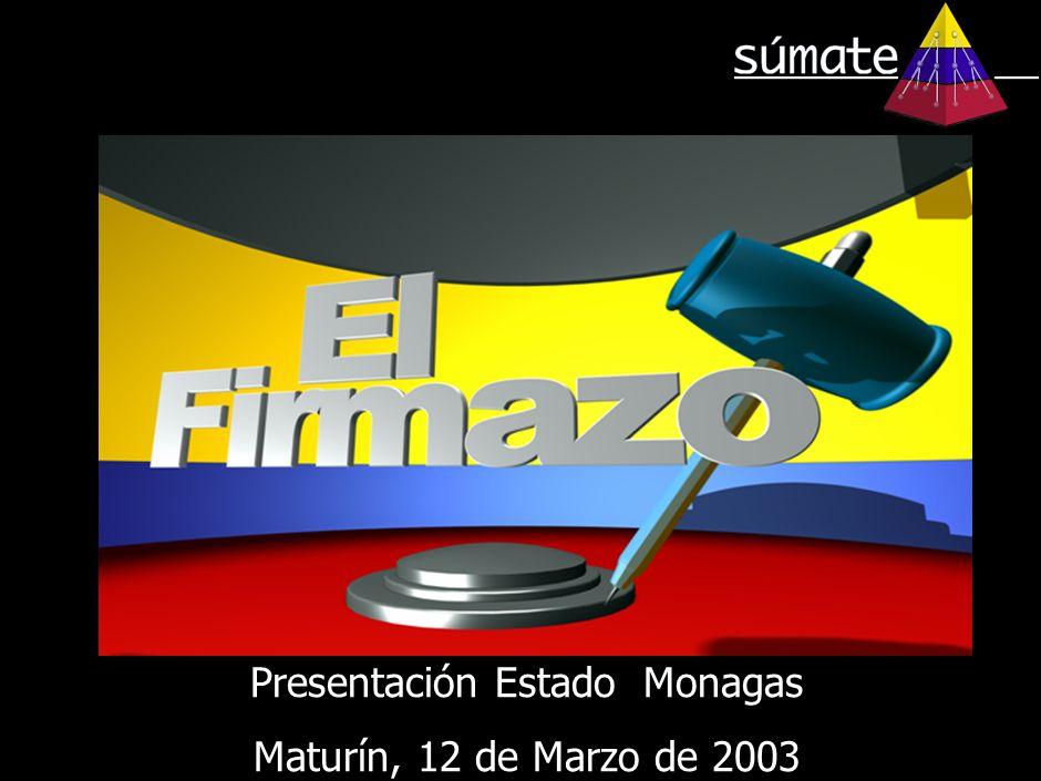 Presentación Estado Monagas Maturín, 12 de Marzo de 2003 Presentación Estado Monagas Maturín, 12 de Marzo de 2003