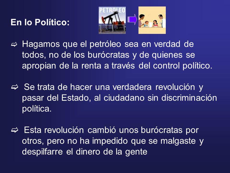 En lo Político: Hagamos que el petróleo sea en verdad de todos, no de los burócratas y de quienes se apropian de la renta a través del control polític