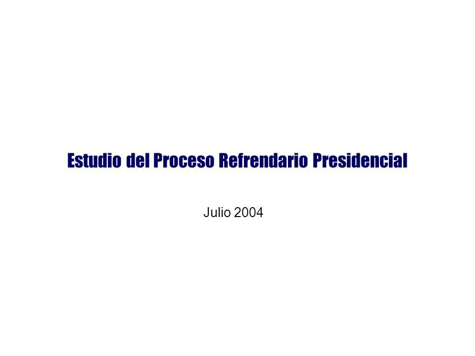 Estudio del Proceso Refrendario Presidencial Julio 2004
