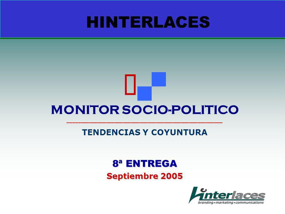 8ª ENTREGA Septiembre 2005 HINTERLACES MONITOR SOCIO-POLITICO ________________________________________________________ TENDENCIAS Y COYUNTURA