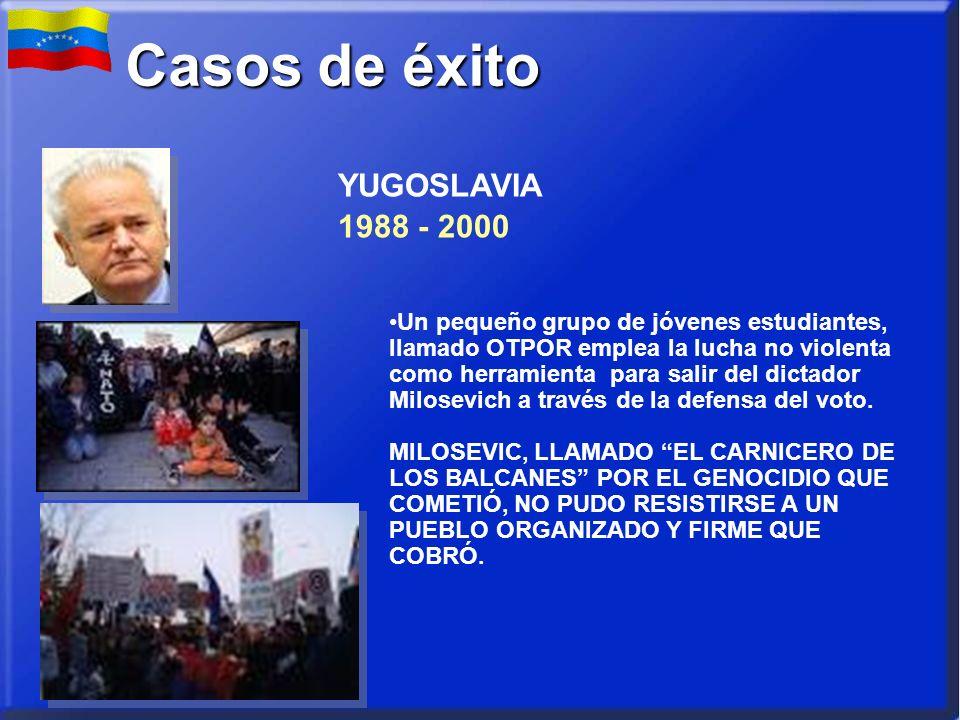 Un pequeño grupo de jóvenes estudiantes, llamado OTPOR emplea la lucha no violenta como herramienta para salir del dictador Milosevich a través de la defensa del voto.