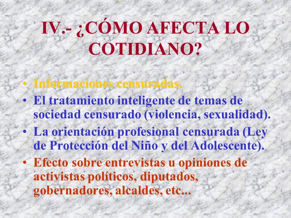 III.- Vicios de Inconstitucionalidad 3.- Del Directorio de Responsabilidad Social en Radio y Televisión- Del Consejo de Responsabilidad Social: Conformación y Atribuciones.