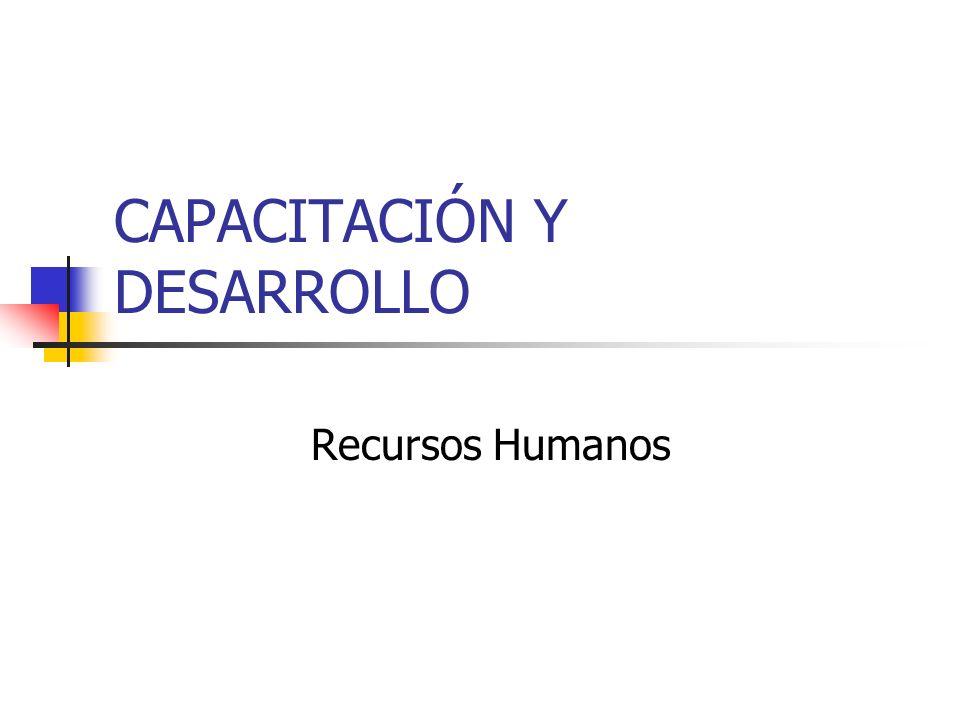 CAPACITACIÓN Y DESARROLLO Recursos Humanos