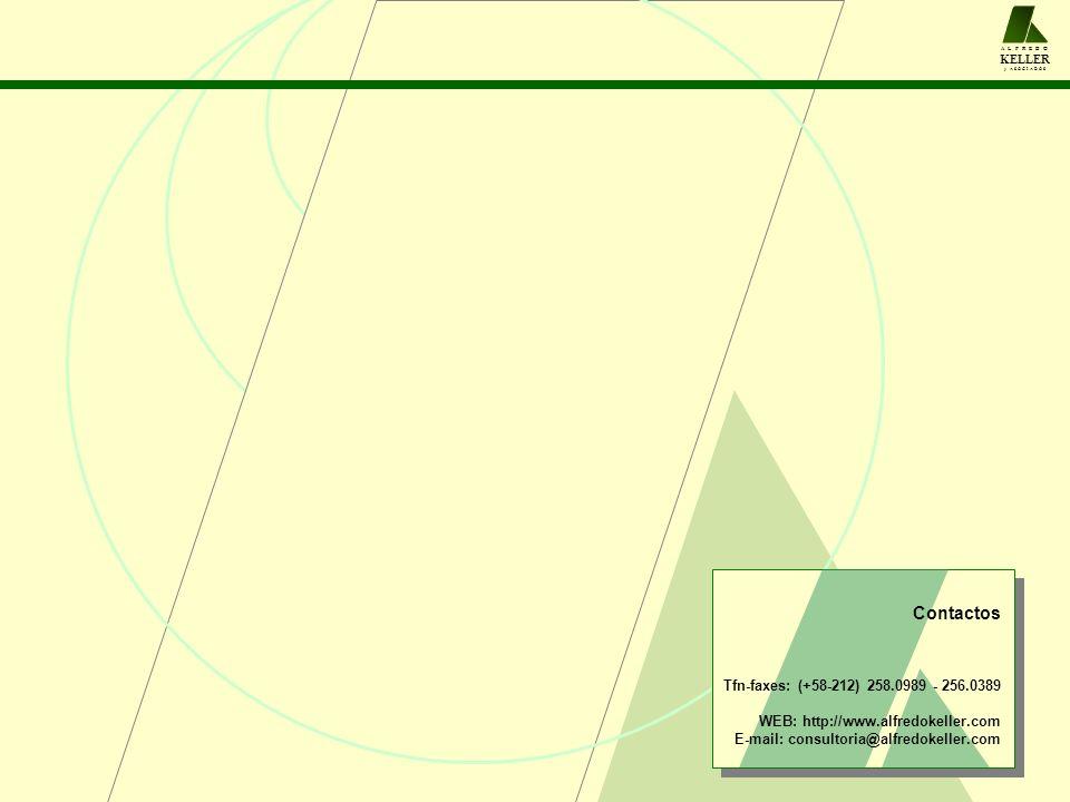 A L F R E D O KELLER y A S O C I A D O S Contactos Tfn-faxes: (+58-212) 258.0989 - 256.0389 WEB: http://www.alfredokeller.com E-mail: consultoria@alfr