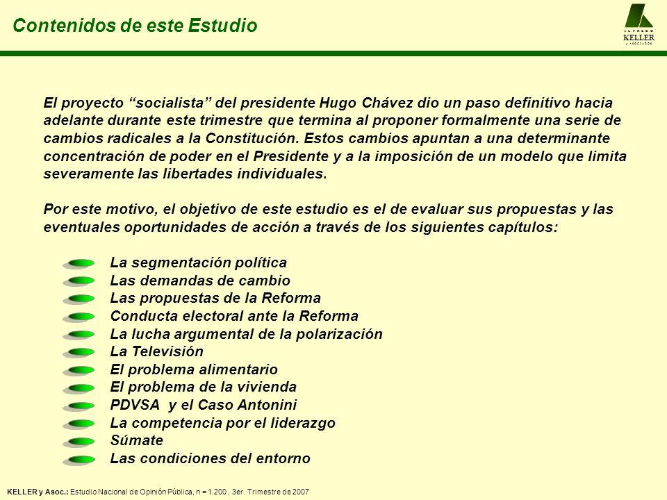 A L F R E D O KELLER y A S O C I A D O S Contenidos de este Estudio El proyecto socialista del presidente Hugo Chávez dio un paso definitivo hacia adelante durante este trimestre que termina al proponer formalmente una serie de cambios radicales a la Constitución.